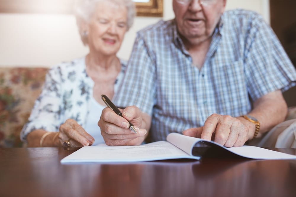 moving into a retirement village paperwork